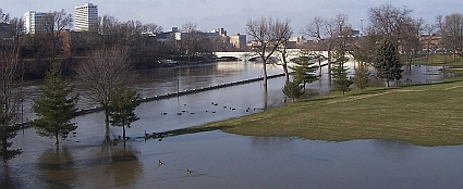 Howard Park flood in South Bend